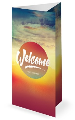 Easter Sunrise Trifold Bulletin Cover