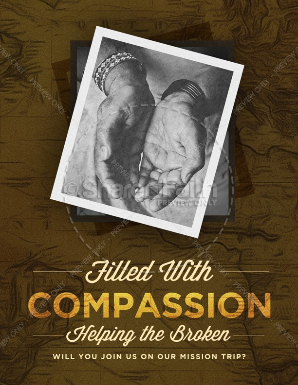 Filled With Compassion International Missions Flyer
