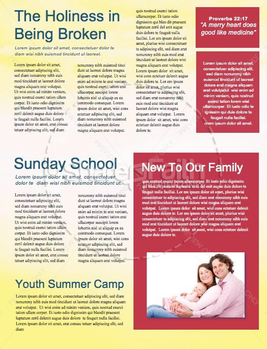 Easter Sunrise Newsletter Template
