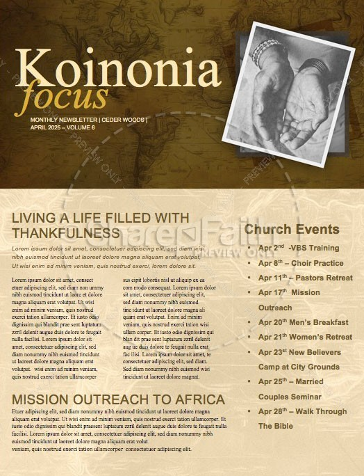 Filled With Compassion International Missions Newsletter