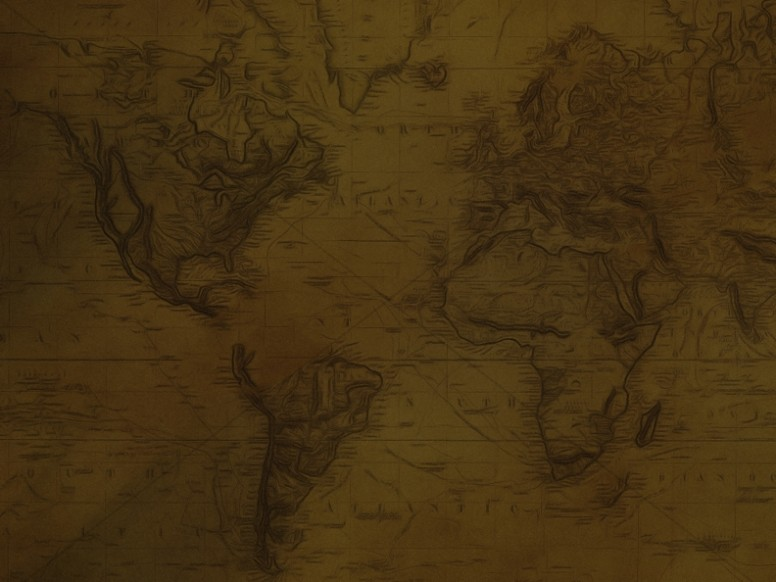 Antique Map Worship Background