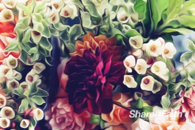 Easter Flower Worship Motion Background