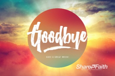 Easter Sunrise Goodbye Motion Graphic