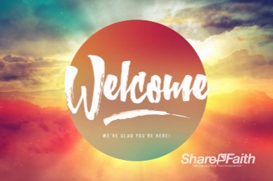 Easter Sunrise Welcome Motion Graphic