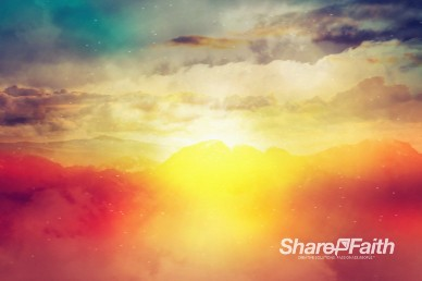 Easter Sunrise Worship Motion Background