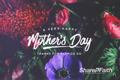 Mother's Day Flower Church Motion Graphic