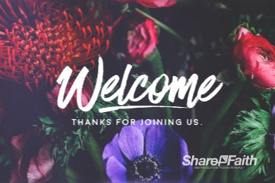 Mother's Day Flower Welcome Motion Graphic