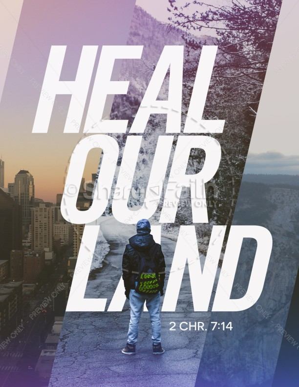 Heal Our Land Church Flyer