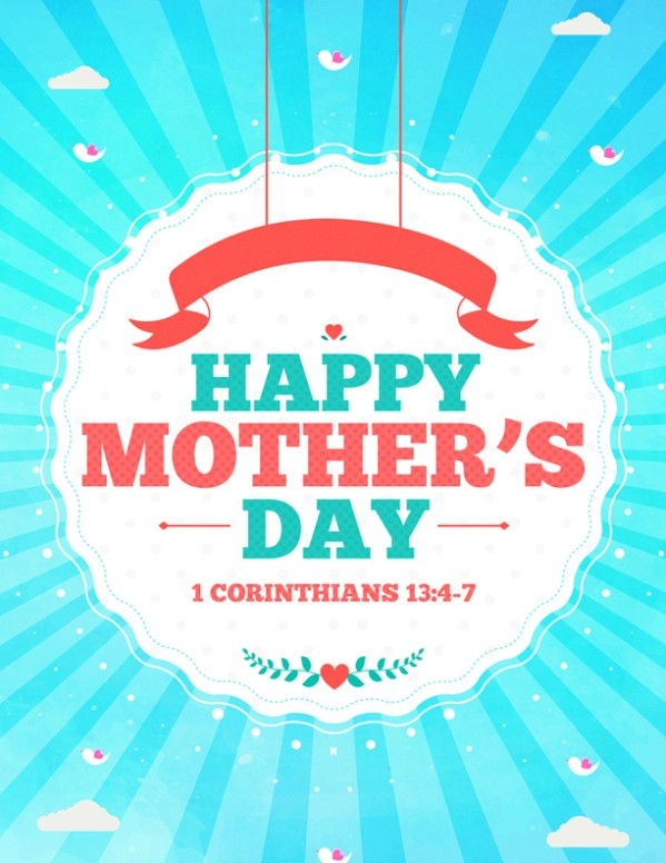 Happy Mother's Day Spring Church Flyer
