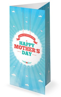 Happy Mother's Day Spring Church Trifold Bulletin