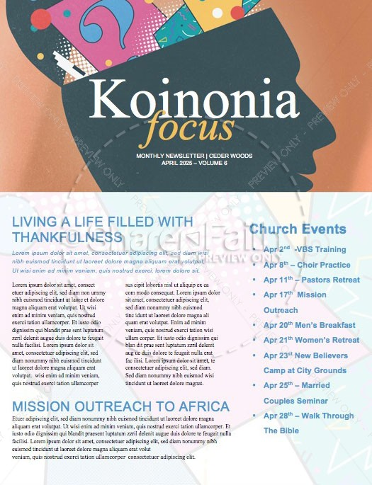 You Asked For It Church Newsletter