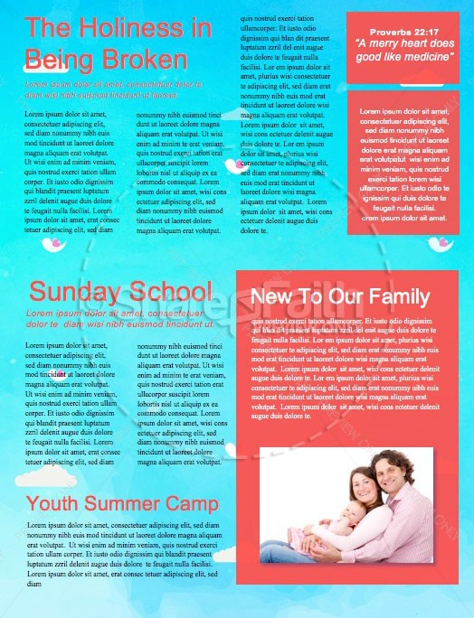Happy Mother's Day Spring Church Newsletter