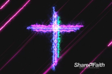 Energy Wave Cross Easter Worship Motion Background