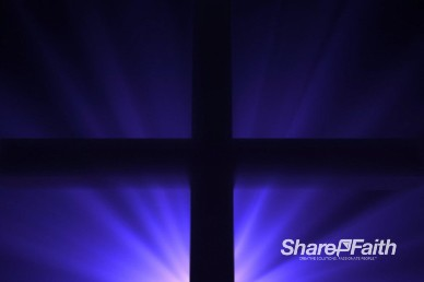 Easter Cross Silhouette Worship Background Loop