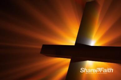 Radiant Cross Easter Worship Background Loop