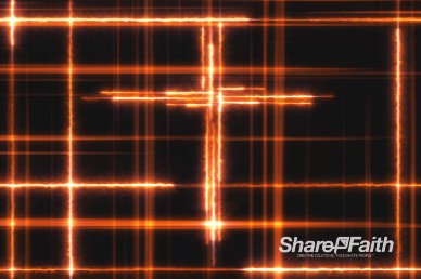 Lightning Cross Worship Background Loop