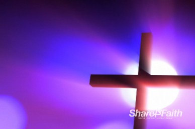Backlit Cross Easter Worship Background Loop