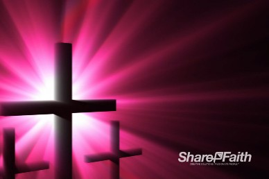 Radiant Cross Silhouettes Christian Worship Background Loop