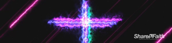 Energy Wave Cross Triple Wide Motion Background