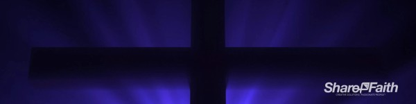 Easter Cross Silhouette Triple Wide Motion Background