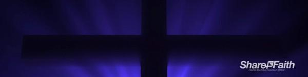 Easter Cross Silhouette Triple Wide Motion Background