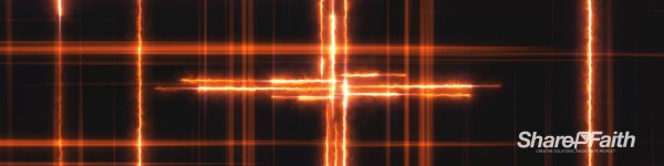 Lightning Cross Easter Triple Wide Motion Background