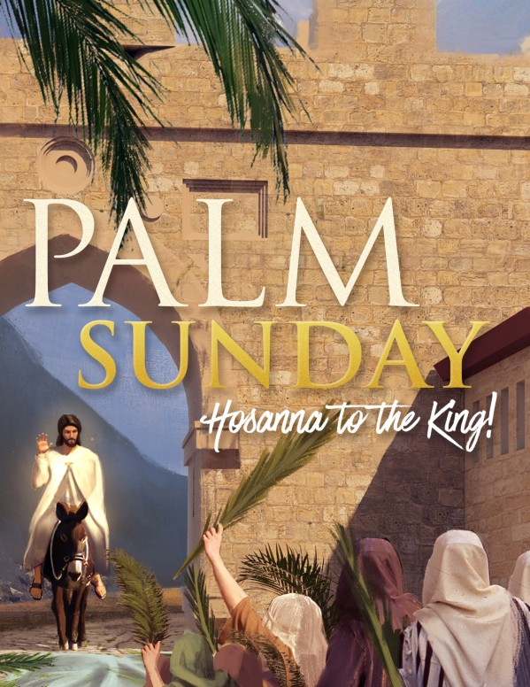 Palm Sunday Hosanna In The Highest Flyer
