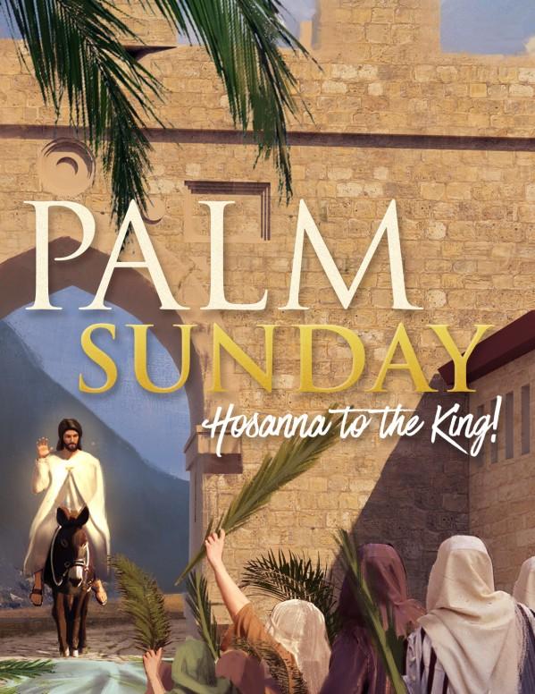 Palm Sunday Hosanna In The Highest Flyer