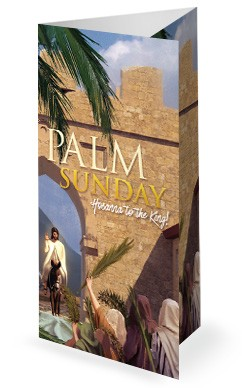 Palm Sunday Hosanna In The Highest Trifold Bulletin
