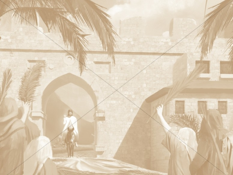Palm Sunday Hosanna In The Highest Sepia Worship Background