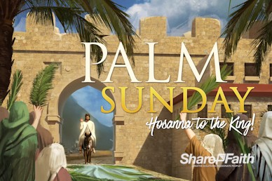Palm Sunday Hosanna In The Highest Church Motion Graphic