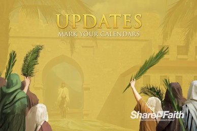 Palm Sunday Hosanna In The Highest Announcements Motion Graphic