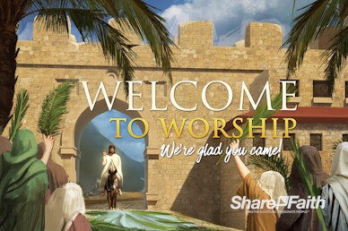 Palm Sunday Hosanna In The Highest Welcome Motion Graphic