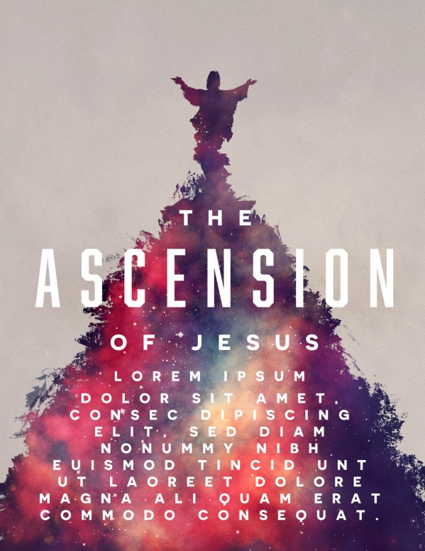 Ascension Day Church Flyer