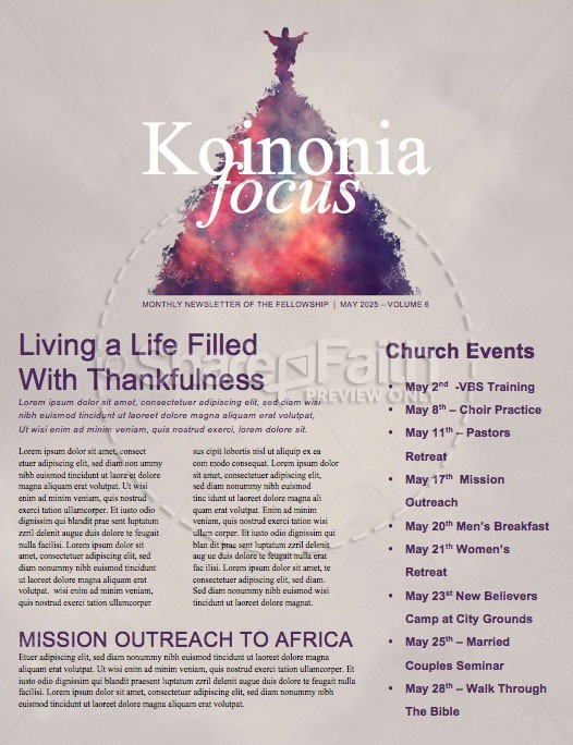 Ascension Day Church Newsletter