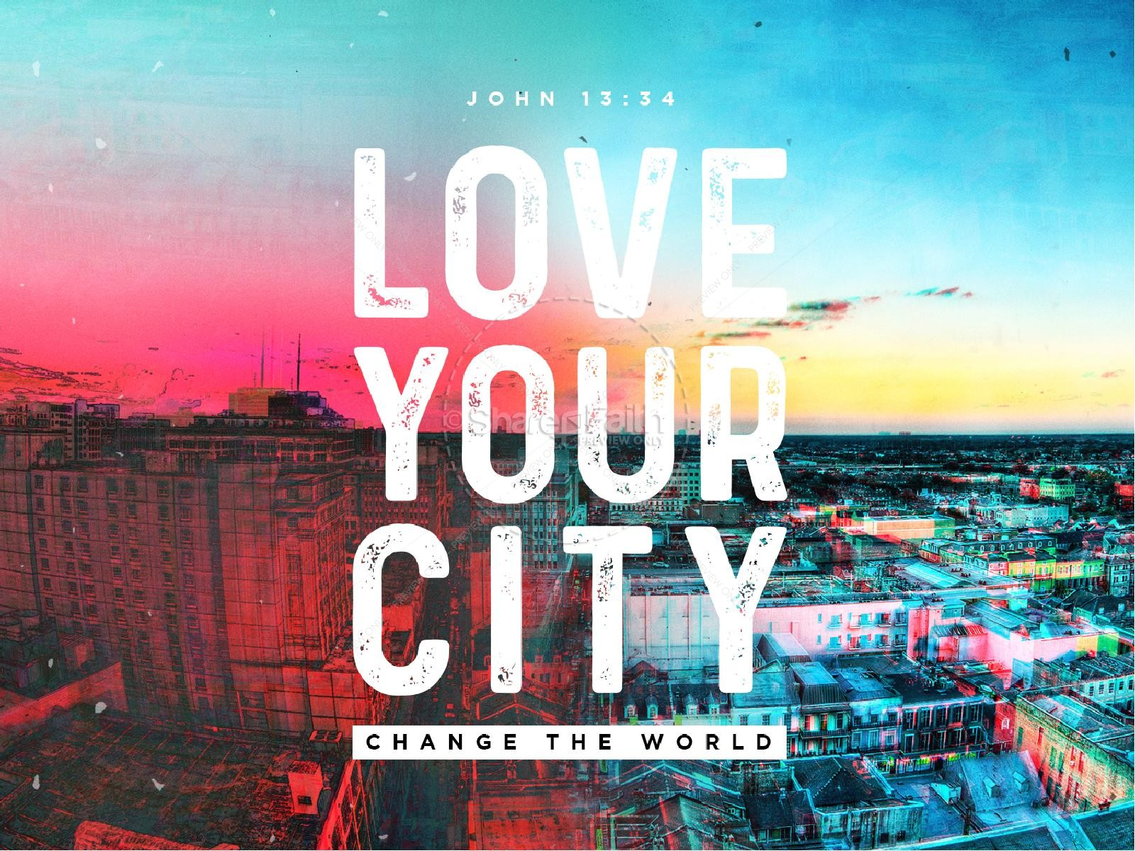 Love Your City Sermon PowerPoint | slide 1
