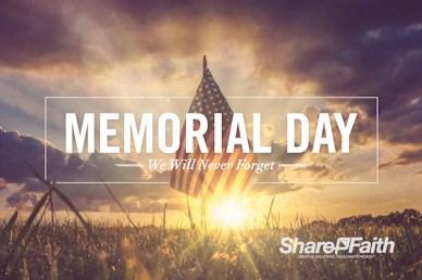 Memorial Day Weekend Church Motion Graphic