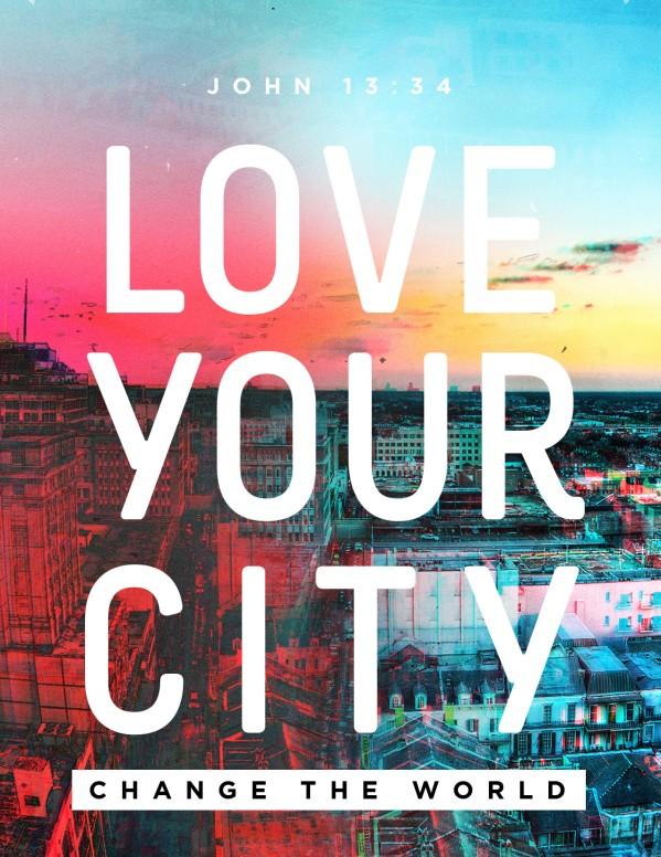 Love Your City Church Flyer