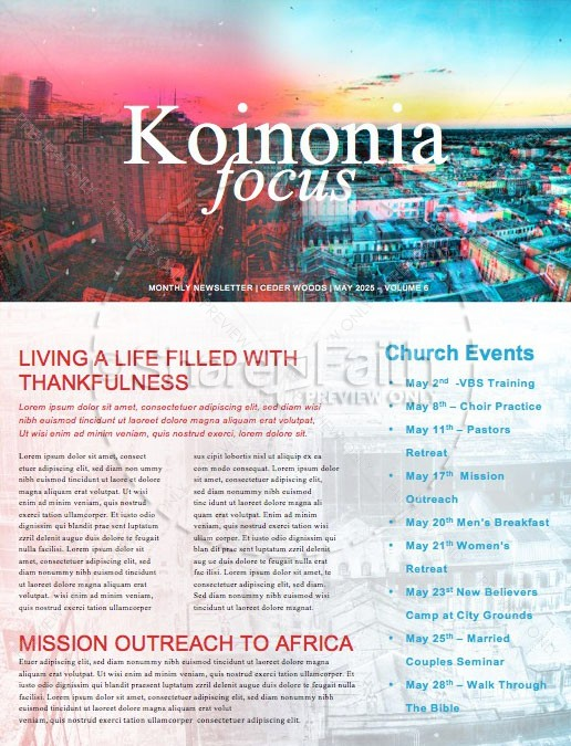 Love Your City Church Newsletter