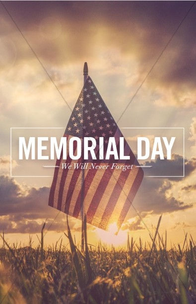 Memorial Day Weekend Church Bulletin