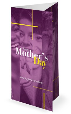 Mother's Day Blessing Church Trifold Bulletin
