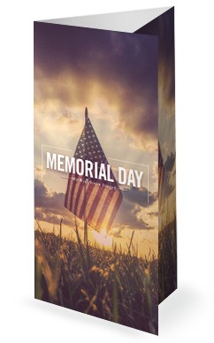 Memorial Day Weekend Church Trifold Bulletin