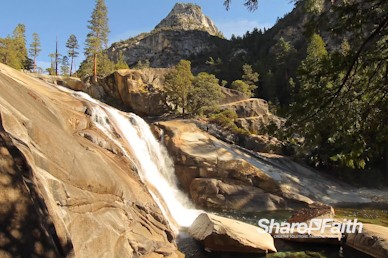 Mountain River Waterfall Worship Video Background