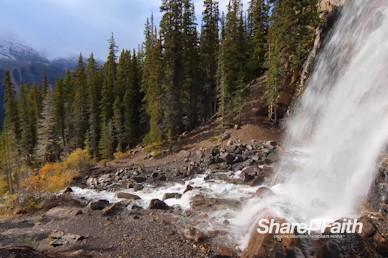 Raging Mountain Waterfall Worship Motion Background