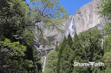 Yosemite Falls Forest Church Motion Background