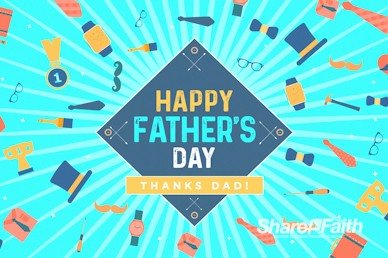 Happy Father's Day Church Motion Graphic