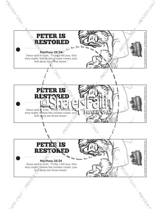 John 21 Peter Is Restored Bible Bookmarks