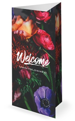 Mother's Day Flower Church Trifold Bulletin
