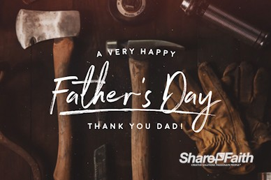 Working Dads Father's Day Church Motion Graphic