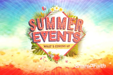 Summer Events Church Motion Graphic